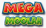Immagine del logo della slot Mega Moolah multicolore
