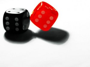 Immagine con dadi da casino.